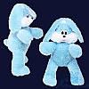 Мягкая игрушка Плюшевый Зайчик Снежок 100 см (голубой)