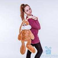 Мягкая игрушка Плюшевый Зайчик Несквик 50 см