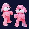 Мягкая игрушка Плюшевый Зайчик Снежок 65 см (ярко-розовый)