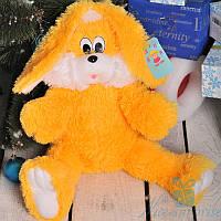 Мягкая игрушка Плюшевый Зайчик Снежок 65 см (медовый), фото 1