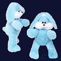 Мягкая игрушка Плюшевый Зайчик Снежок 65 см (голубой), фото 1
