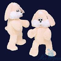 Мягкая игрушка Плюшевый Зайчик Снежок 100 см (персиковый), фото 1