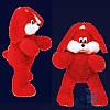 Мягкая игрушка Плюшевый Зайчик Снежок 65 см (красный)