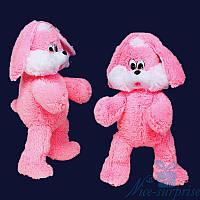 Мягкая игрушка Плюшевый Зайчик Снежок 100 см (ярко-розовый), фото 1