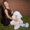 Мягкая игрушка Плюшевый Зайчик Снежок 65 см (белый)