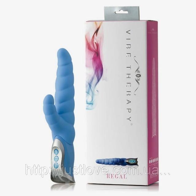 Вибромассажер Vibe Therapy Regal Dark Blue