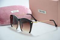 Солнцезащитные очки Миу Миу коричневые, фото 1