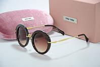 Солнцезащитные очки Миу Миу  с блестками, фото 1