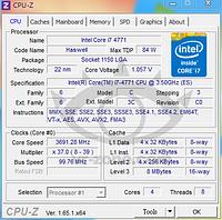Подробности о процессоре Core i7-4771