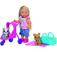 Кукла Love Еви и ее любимцы с коляской и аксессуарами (573 3080)