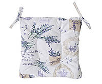 Подушка на стул Прованс Лаванда стеганная 40*40 см