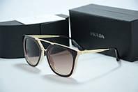 Солнцезащитные очки Prada коричневые с бежевым, фото 1