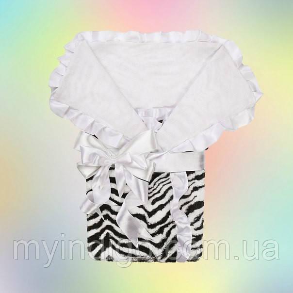 Зебра конверт-одеяло для новорожденного