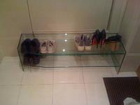 Обувная полка из стекла