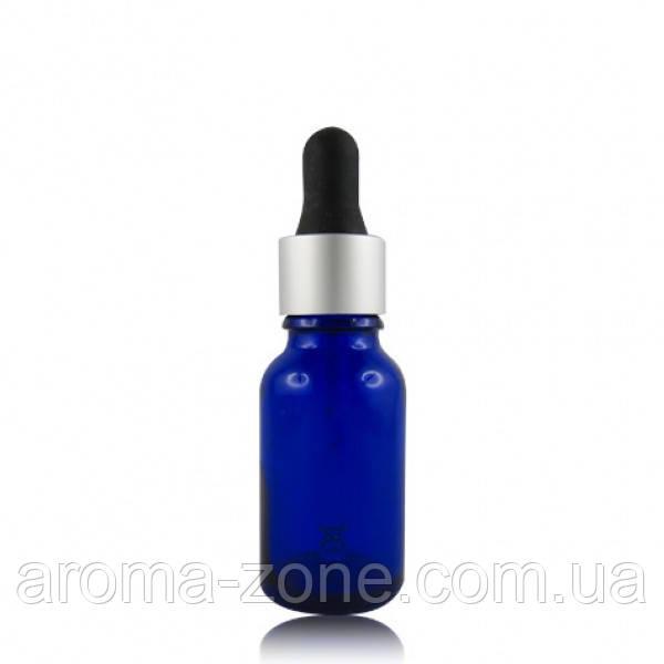 Стеклянная бутылка с пипеткой ,синий  15 мл.