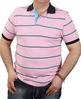 Футболка Ralph Lauren-b120 розовая оптом