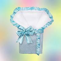 Плюшевый конверт-одеяло для новорожденного мальчика, фото 1