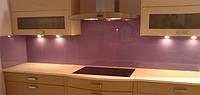 Кухонный фартук крашенный фиолетовый