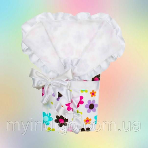 Нарядный конверт-одеяло для новорожденного мальчика