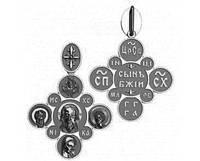 Крест серебряный православный 50120