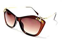 Очки солнцезащитные женские Miu Miu 03P C3 SM 01912, женские очки первая линия 2016 в коричневой оправе