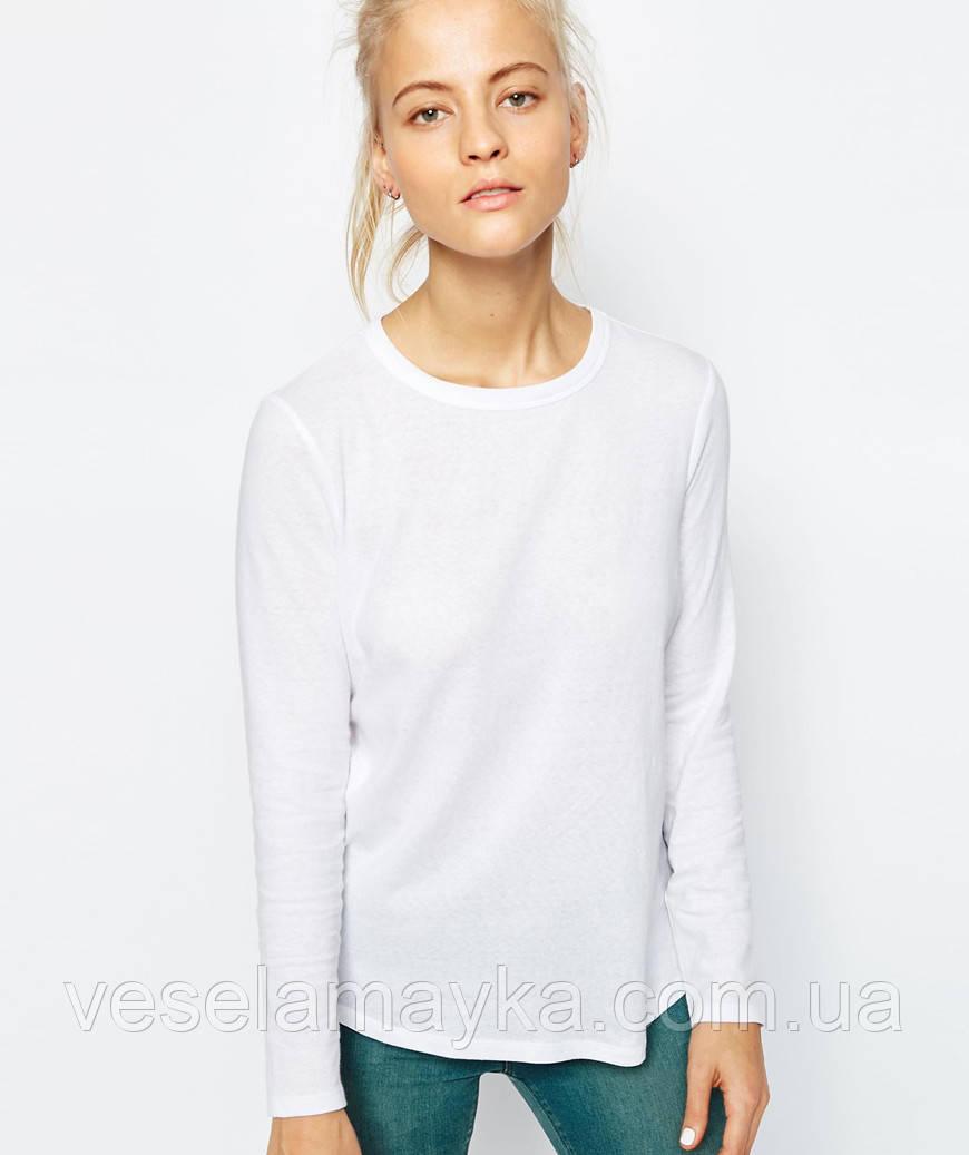 Женский лонгслив (белого цвета)