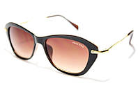 Очки солнцезащитные женские Miu Miu 04L C5 SM 01082, брендовые бабочки в коричневой оправе