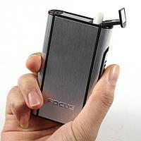 Алюминиевый портсигар с автоматической подачей сигарет, фото 1
