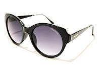 Очки солнцезащитные женские Miu Miu 06PS C1 SM 02455, брендовые круглые очки в чёрной оправе