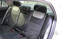 Чохли на Тойота Королла 10 (авточохли Toyota Corolla X, Lether style)