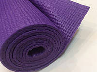 Килимок для йоги, гімнастики, пілатесу 6 мм фіолетовий (йога мат) 173*61 см, фото 1