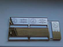 зеркальный золотой акрил, с гравировкой