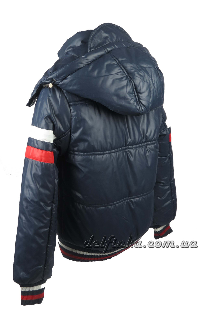 Куртка  для мальчиков, теплая,  демисезонная 6-10 лет цвет синий (18-12 джек), фото 3