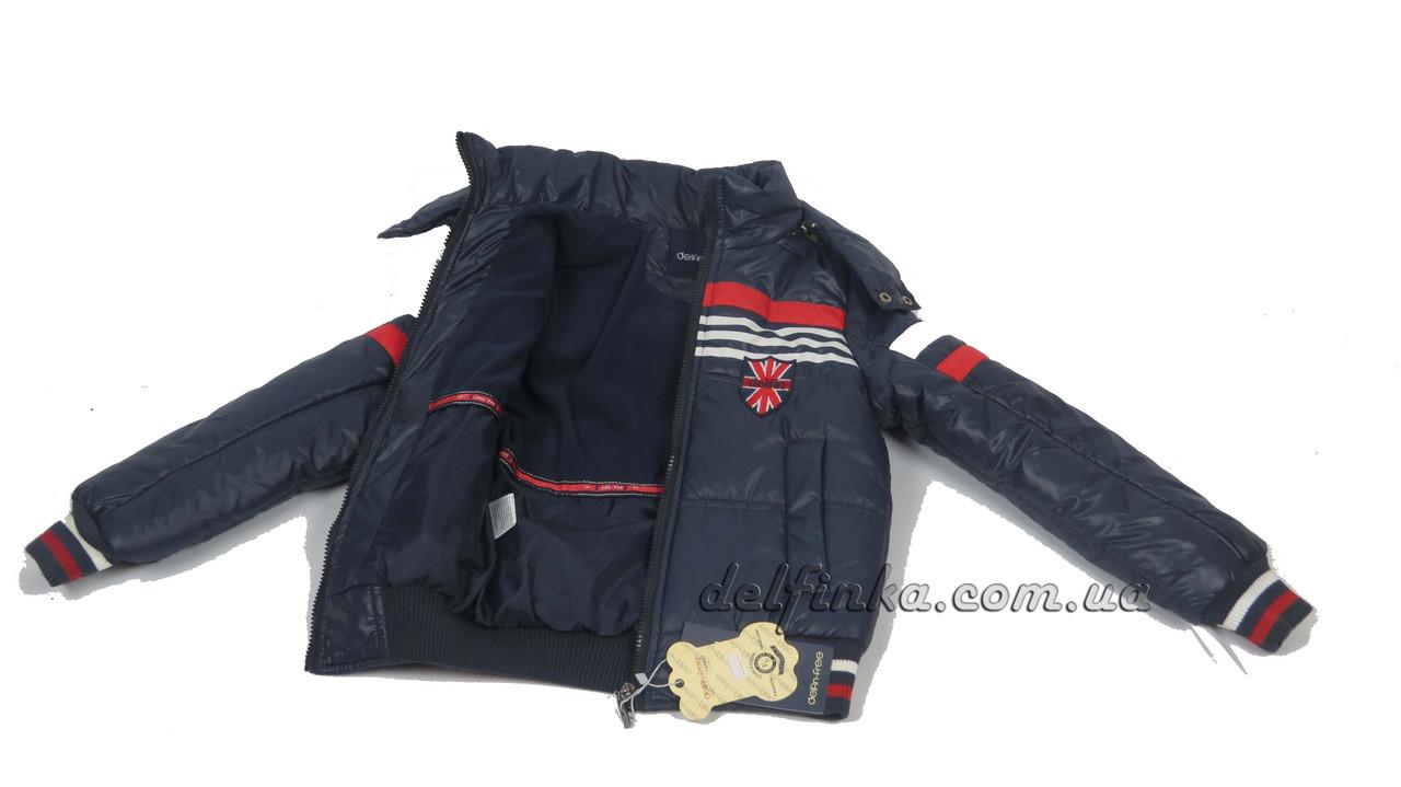 Куртка  для мальчиков, теплая,  демисезонная 6-10 лет цвет синий (18-12 джек), фото 4