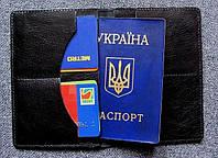 Кожаный чехол для паспорта карточек и денег
