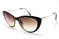 Очки солнцезащитные женские Miu Miu 080S C4 SM 02152, стильные бабочки купить в интернет-магазине