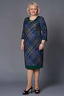 Платье женское повседневное батальное стеганный трикотаж