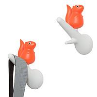 Крючки настенные Hook Squirrel Qualy Белый / Оранжевый
