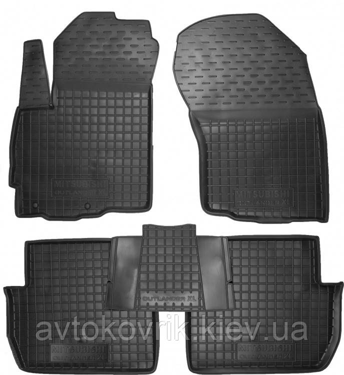 Полиуретановые коврики в салон Mitsubishi Outlander II (XL) 2006-2012 (AVTO-GUMM)