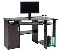 Столик компьютерный угловой с тумбочкой, венга 118х78 см
