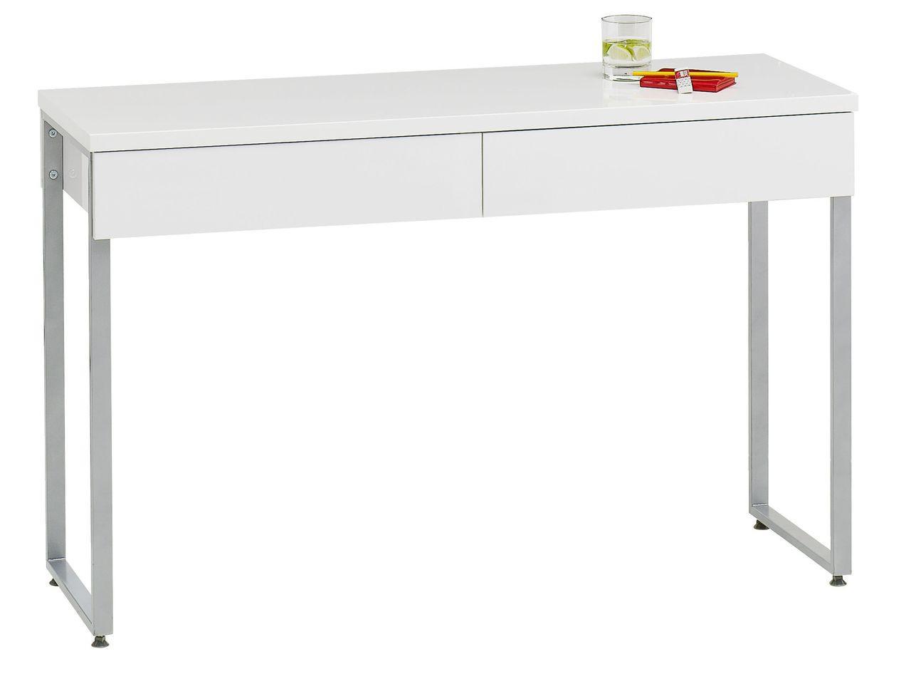 Столик компьютерный белый глянец, фото 1