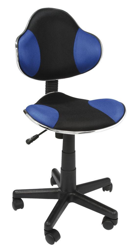 Кресло компьютерное офисное черно синее, фото 1