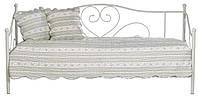 Кровать кушетка металическая кремовая 90x200см