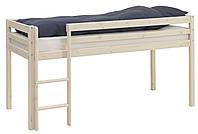 Детская Кровать чердак 90x200см белая (сосна)