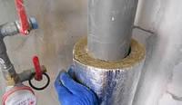 Шумоизоляция стояков канализации минеральной ватой