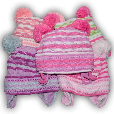 Шапочка вязаная для девочек,подкладка хлопок, производитель Grans (Польша), модель A493