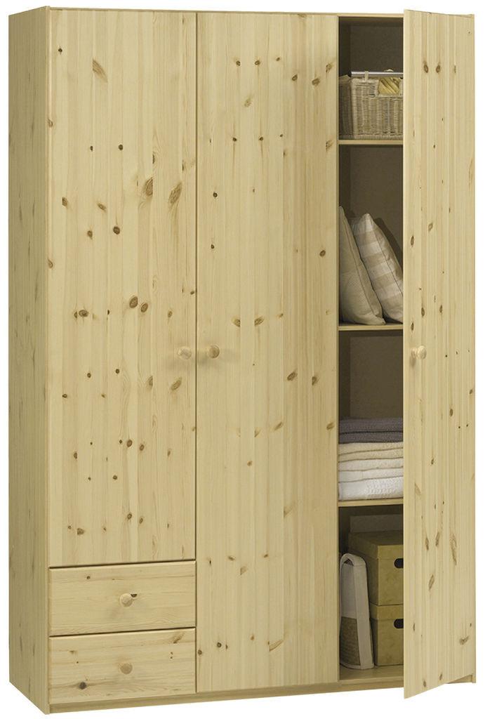 Шкаф 3-х дверный + 2 ящика (цвет сосна)