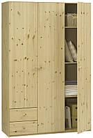 Шкаф 3-х дверный + 2 ящика (цвет сосна), фото 1