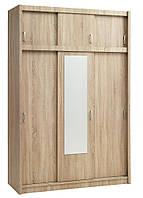 Шкаф 3-х дверный + 3 ящика (цвет дуб), фото 1