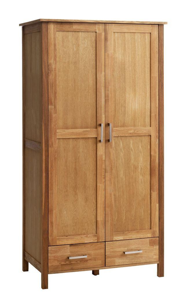 Шкаф 2-х дверный + 2 ящика (цвет дуб) 97х61 см, вис. 190 см